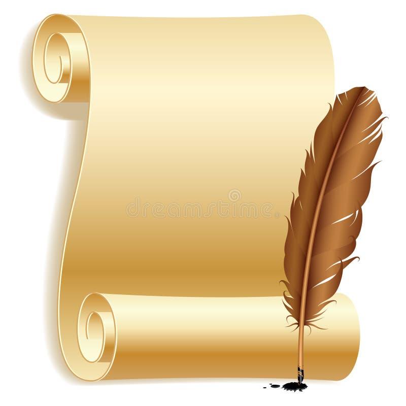 piórkowy papier royalty ilustracja