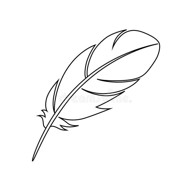 Piórkowych ptaków liniowa graficzna ikona royalty ilustracja