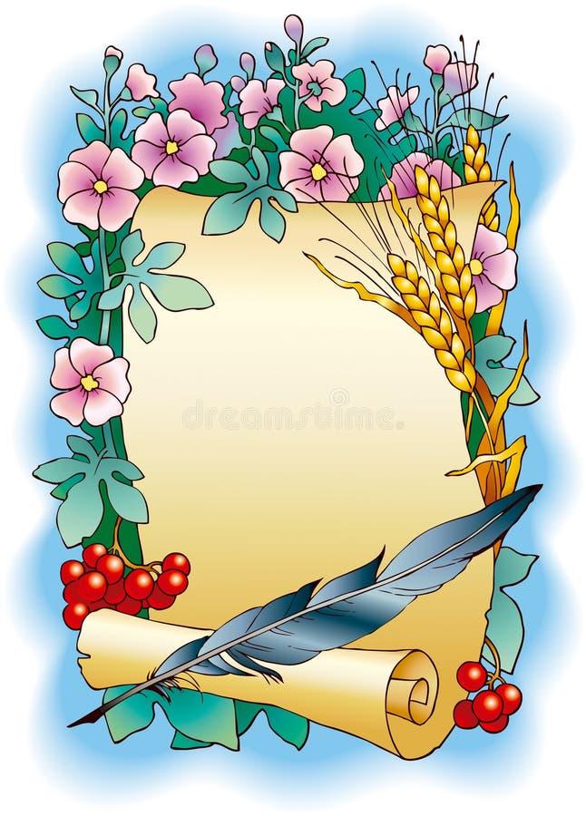 pióro ślimacznica ilustracji