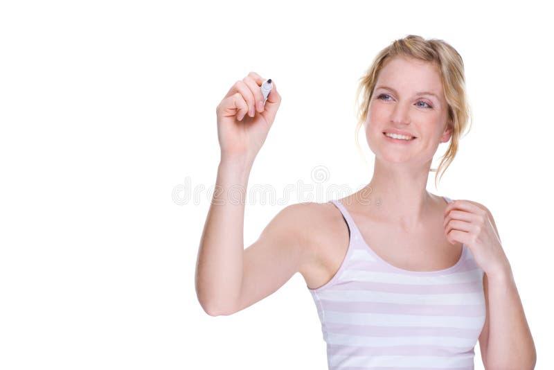 pióro kobieta obraz stock