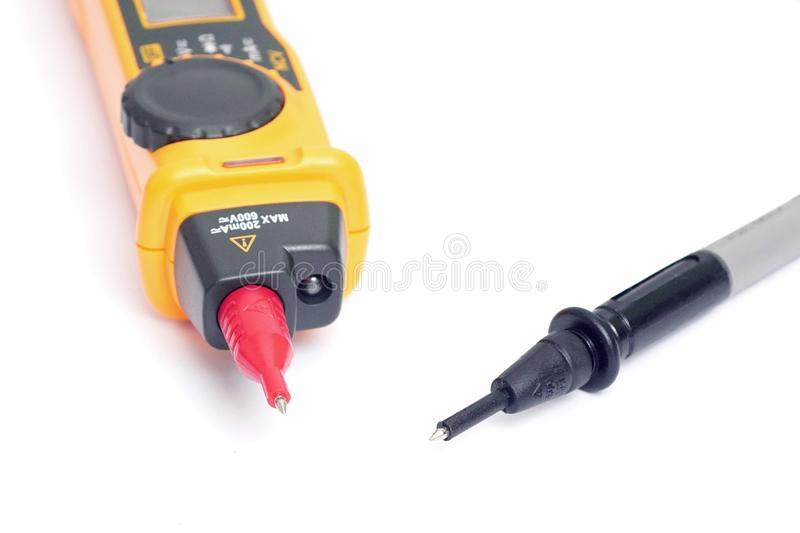 Pióro typ multimeter testa sondy obraz stock