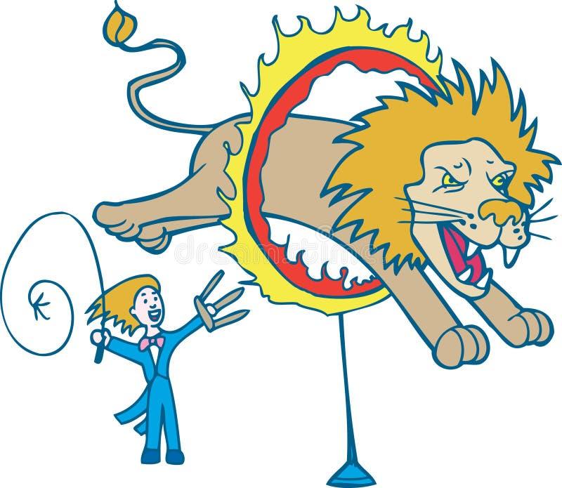 Più addomesticato di leone illustrazione vettoriale