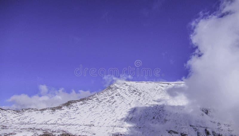 Più alto picco della Spagna continentale Mulhacén, Sierra Nevada, Andalusia, Spagna immagini stock libere da diritti