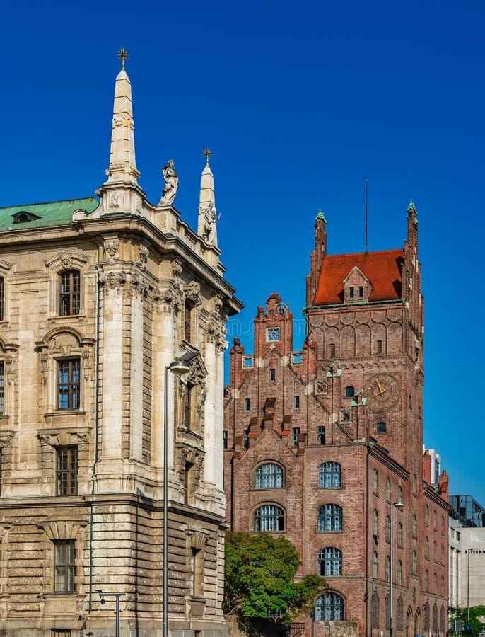 Più alto tribunale regionale e corte costituzionale bavarese, Monaco di Baviera, Germania fotografia stock libera da diritti