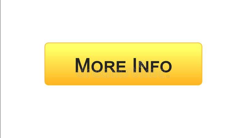 Più colore arancio del bottone dell'interfaccia di web di informazioni, progettazione del sito internet, applicazione illustrazione di stock