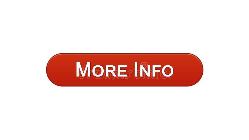 Più colore rosso del vino del bottone dell'interfaccia di web di informazioni, progettazione del sito internet, applicazione royalty illustrazione gratis