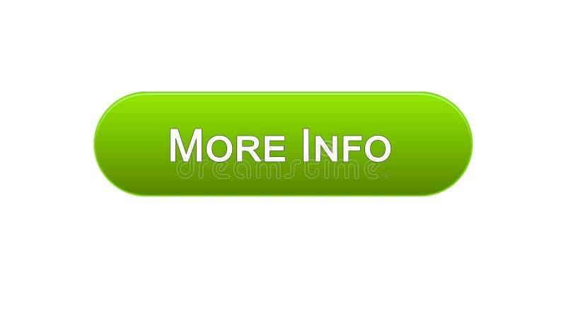 Più colore verde del bottone dell'interfaccia di web di informazioni, progettazione del sito internet, applicazione illustrazione vettoriale