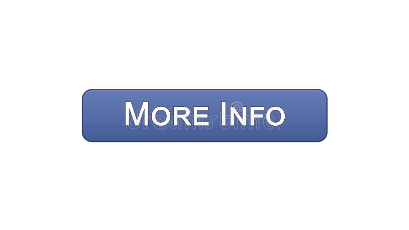 Più colore viola del bottone dell'interfaccia di web di informazioni, progettazione del sito internet, applicazione illustrazione di stock