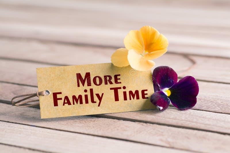 Più etichetta di tempo della famiglia fotografie stock libere da diritti