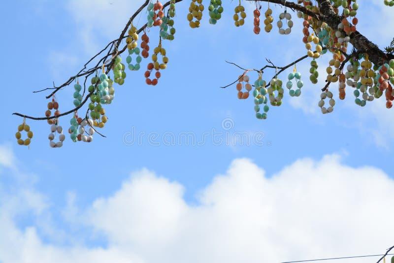 Più grande dettaglio dell'albero dell'uovo di Pasqua immagini stock libere da diritti