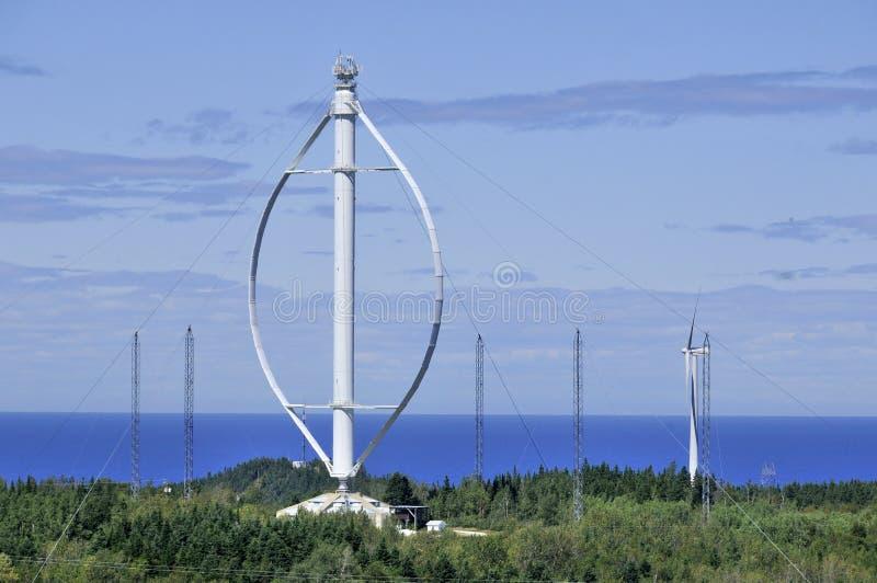Più grande generatore eolico verticale dell'asse del mondo fotografia stock