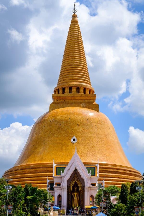 Più grande santuario di Phra Pathom Chedi fotografie stock libere da diritti