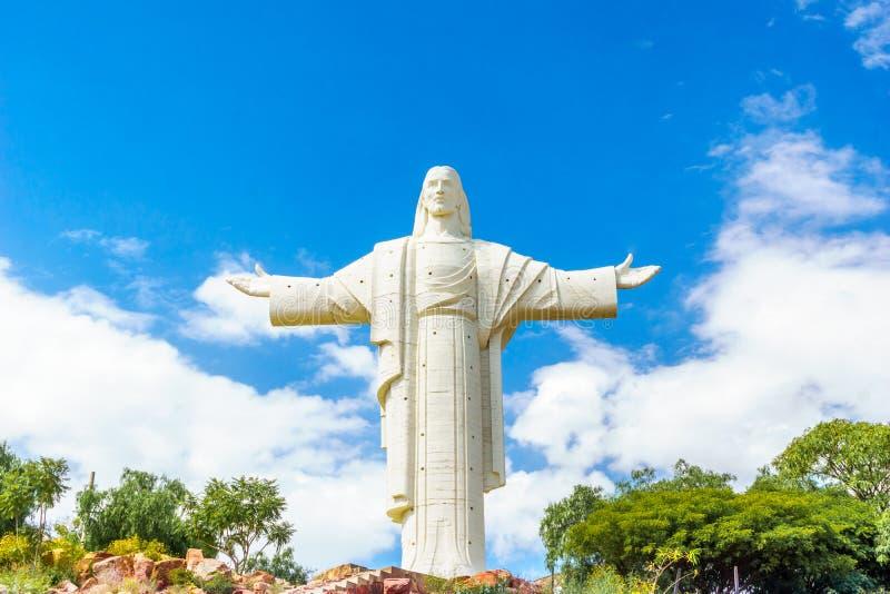 Più grande statua di Jesus Christ del mondo a Cochabamba fotografia stock libera da diritti