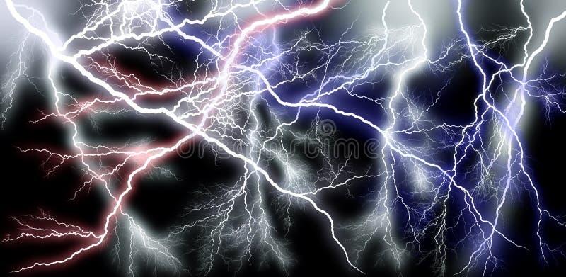 Più potenza della cascata del lampo illustrazione vettoriale