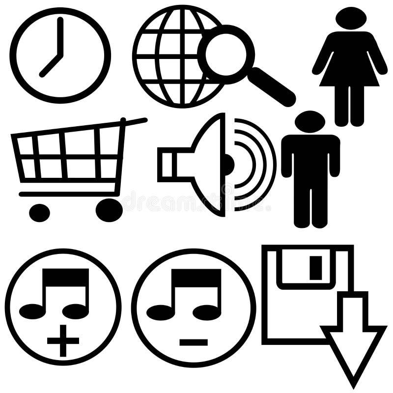 Più simboli illustrazione vettoriale