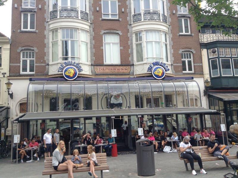 Più vecchia caffetteria nei Paesi Bassi fotografie stock libere da diritti