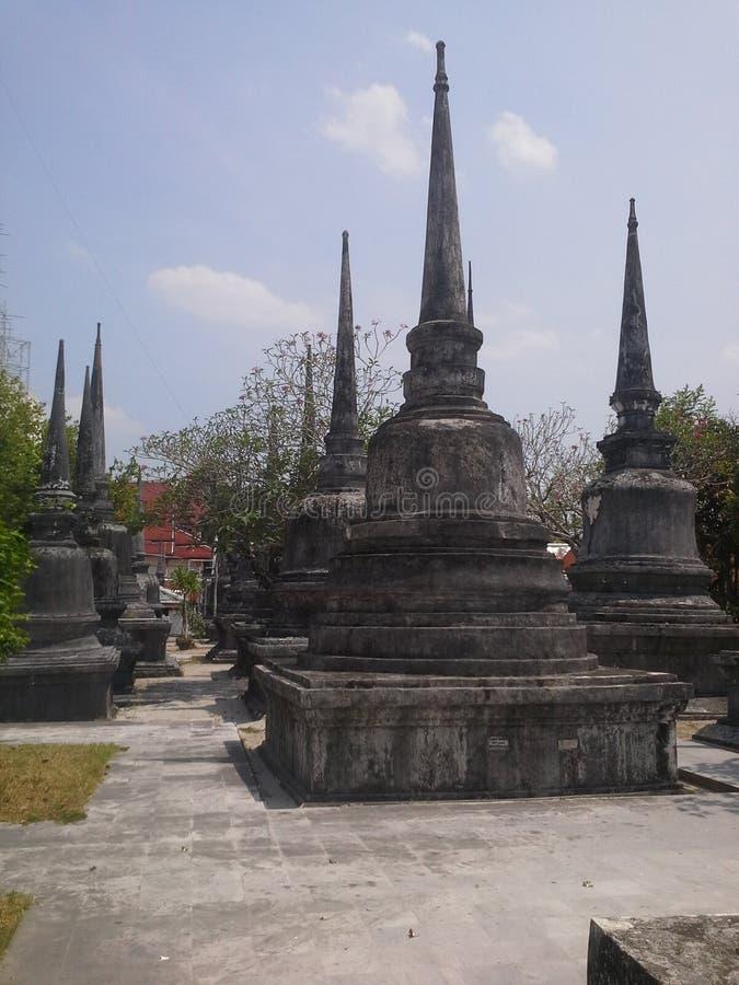 Più vecchie pagode del tempio a NaKhonSiThammarat, Tailandia fotografia stock