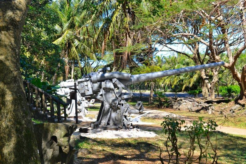 Più vecchie pistole giapponesi sull'isola di Saipan immagine stock libera da diritti