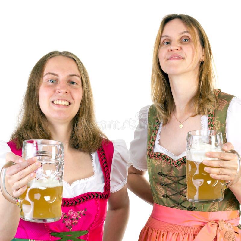 Pić dwoistego piwo na Oktoberfest zdjęcia stock
