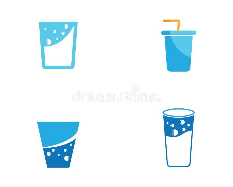 Pić szklaną wektorową ilustrację royalty ilustracja