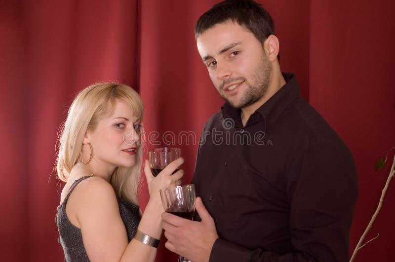 pić wina. obraz royalty free