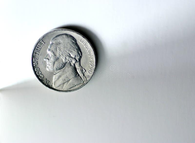 pięć centów fotografia stock