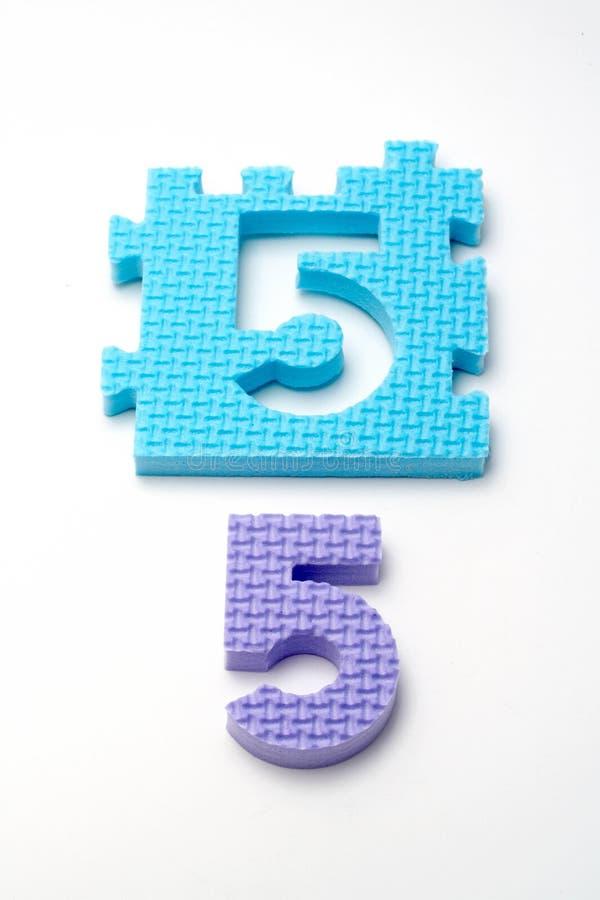 pięć dof ogniska przedniego mat liczby układanki, zdjęcia royalty free