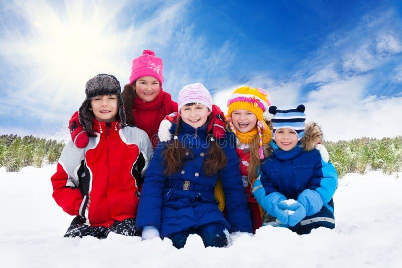 Pięć dzieciaków zdjęcia stock