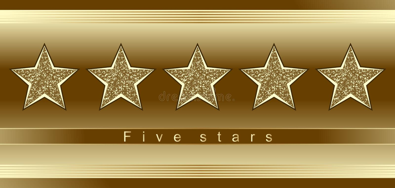 pięć gwiazd royalty ilustracja