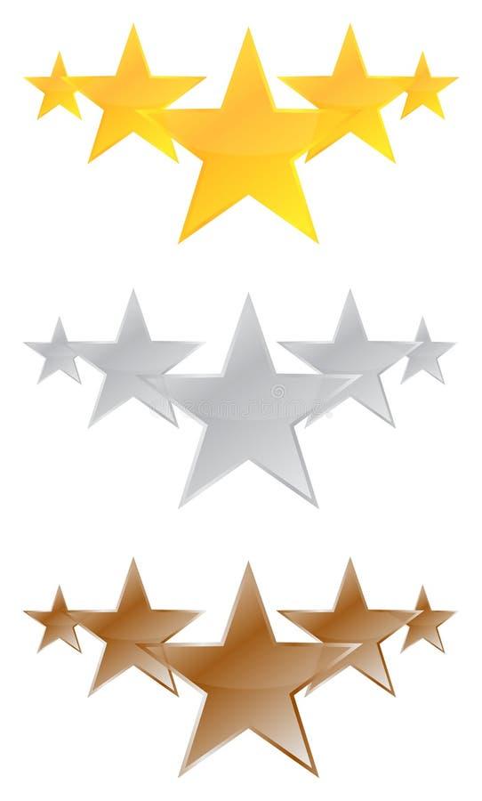 Pięć gwiazd ilości produkt ilustracji