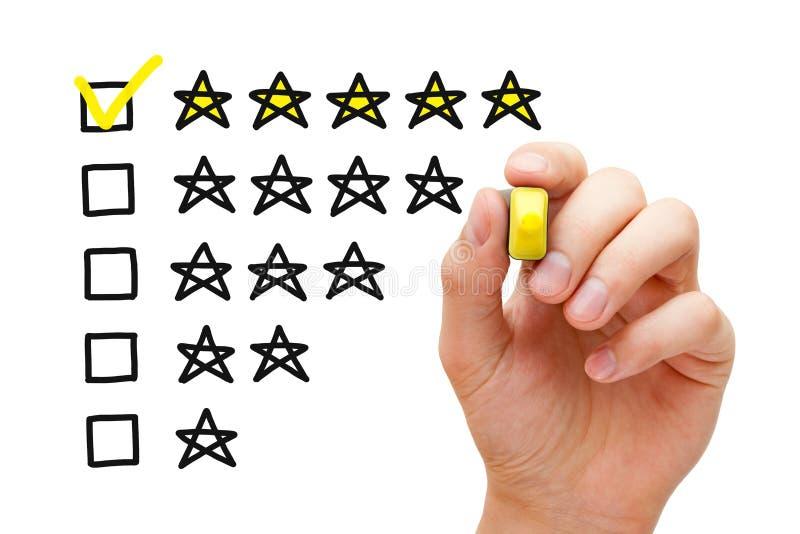 Pięć gwiazdowy ratingowy pojęcie fotografia stock