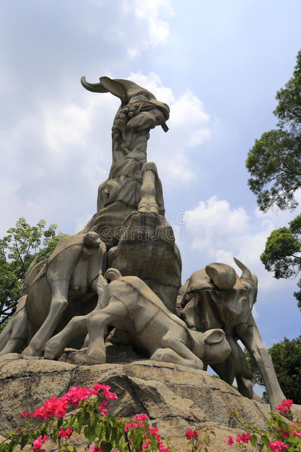 Pięć kózek statua obraz stock