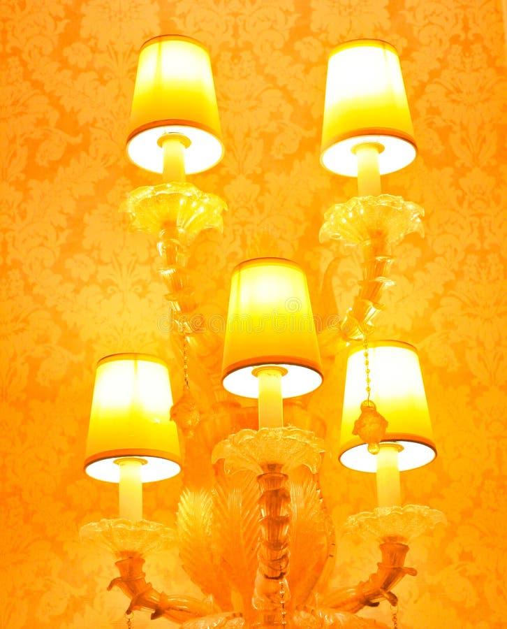 pięć lampy jaśnienie obraz stock