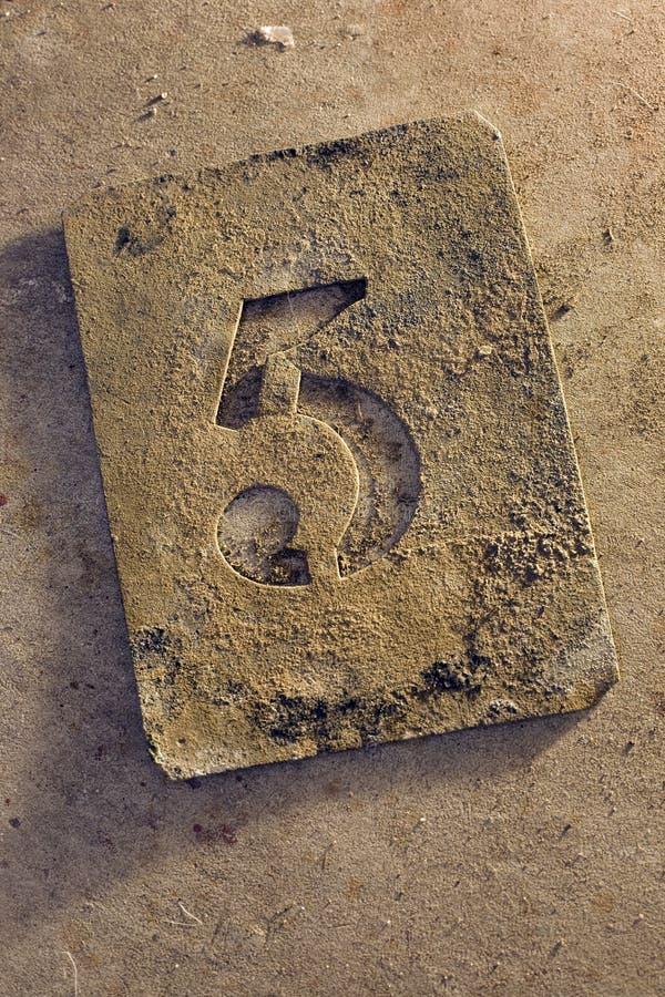 pięć liczb zdjęcie royalty free