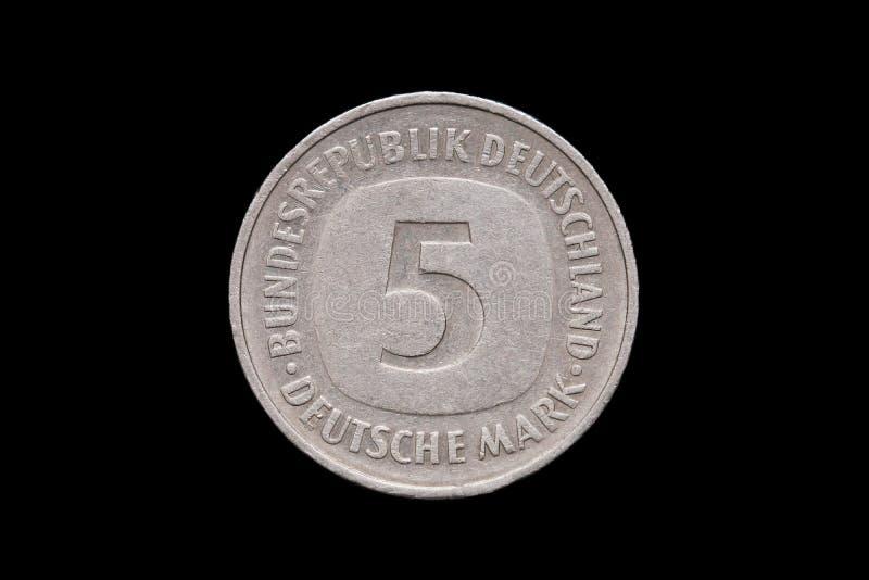 Pięć Niemiecki Mark fotografia royalty free