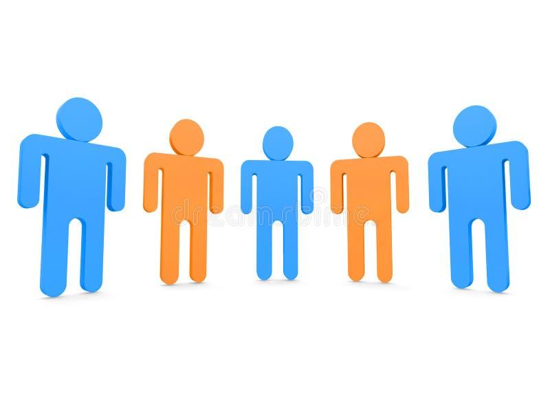 pięć osób ilustracji
