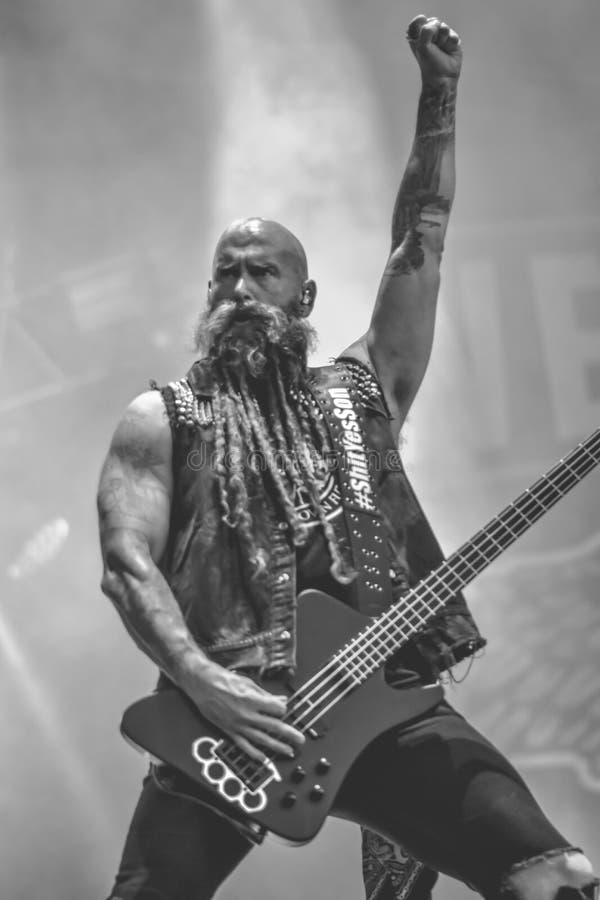 Pięć Palcowy Śmiertelny poncz, Chris Kael Hellfest 2017 heavymetal zdjęcia stock