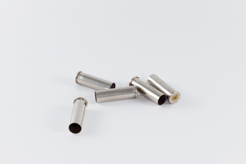 Pięć podpalali nabojowe skrzynki, kaliber 357 magnum zdjęcie stock