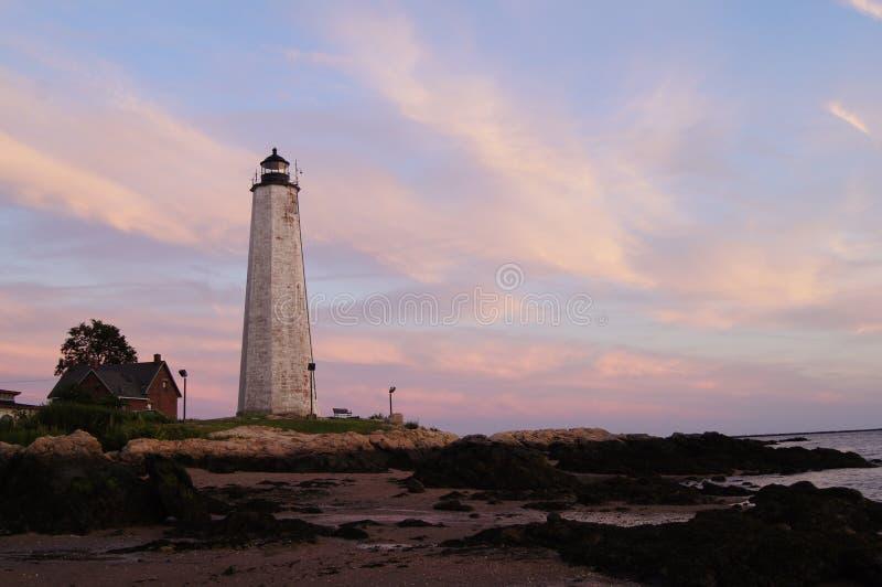 Pięć punktu Milowa latarnia morska obraz stock