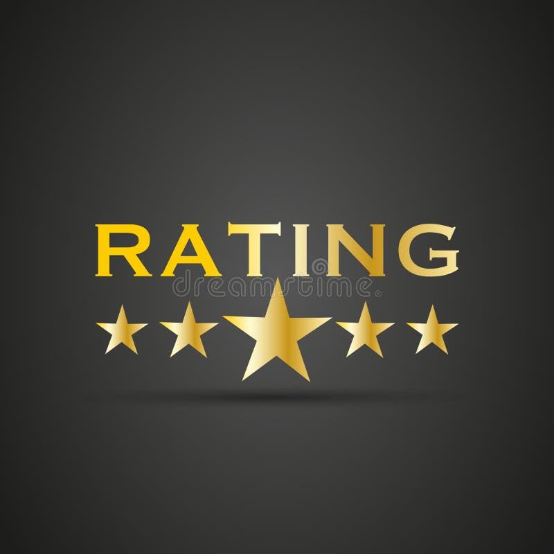 pięć ratingowa gwiazda ilustracji