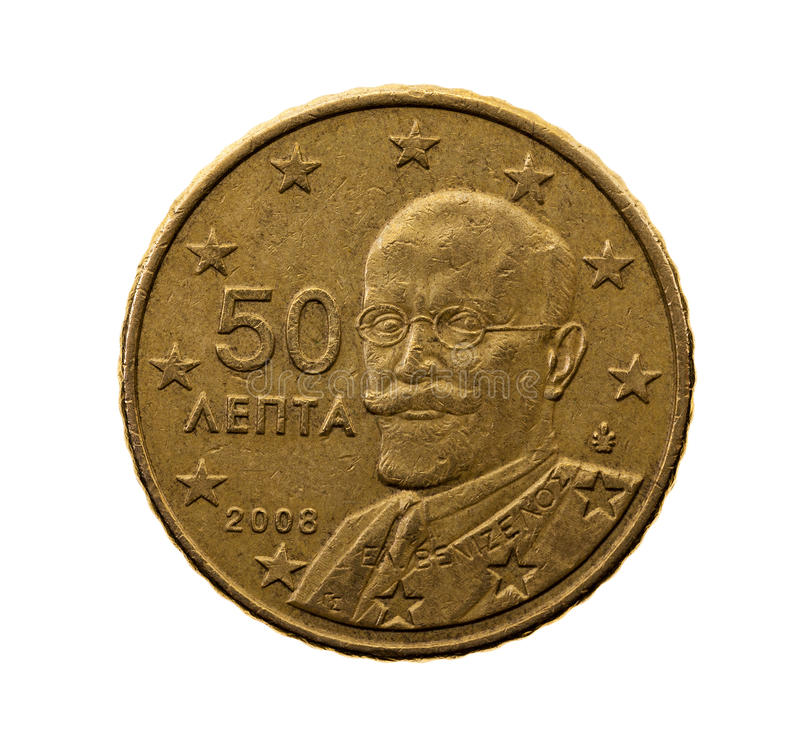 Pięćdziesiąt euro centów obrazy royalty free