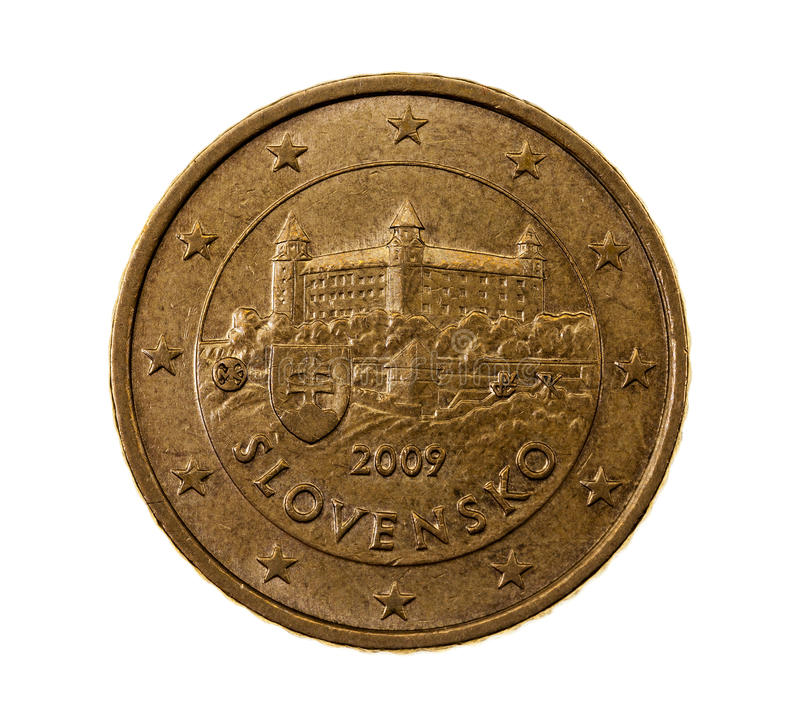 Pięćdziesiąt euro centów zdjęcie stock