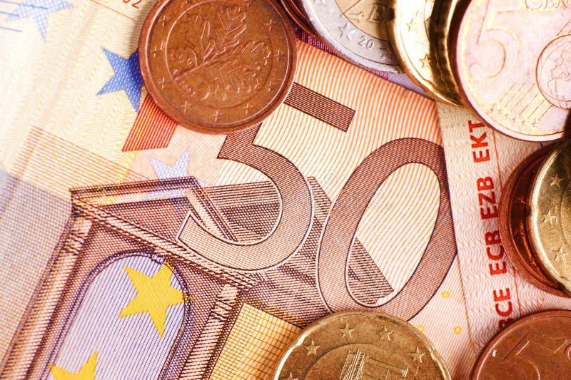 Pięćdziesiąt euro - Euro pieniądze obraz stock
