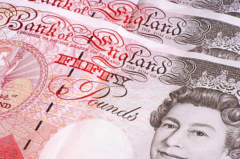 pięćdziesiąt notatek funt zdjęcie royalty free