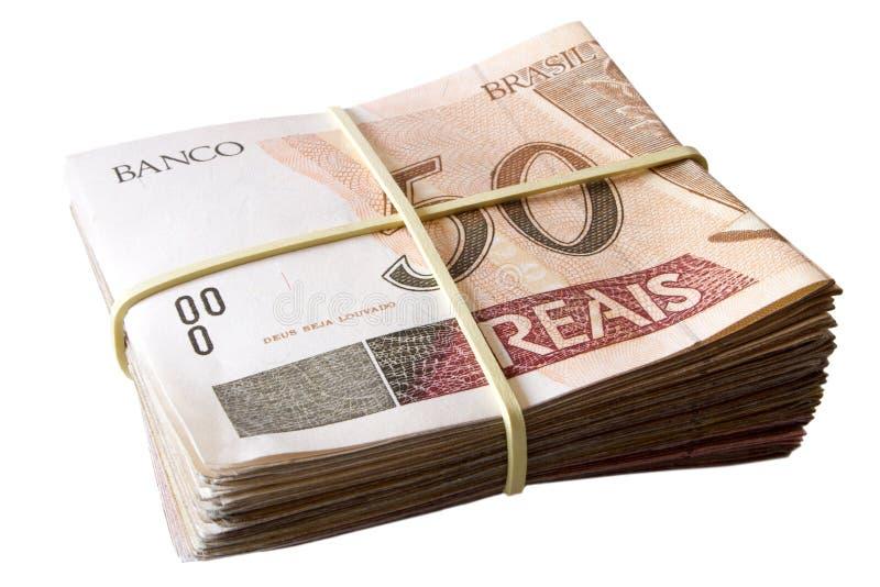 Pięćdziesiąt reais - Brazylijski pieniądze fotografia stock