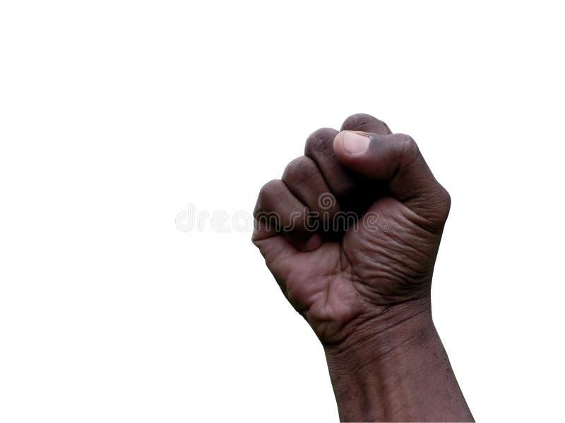 pięść gestem ręki zdjęcie stock