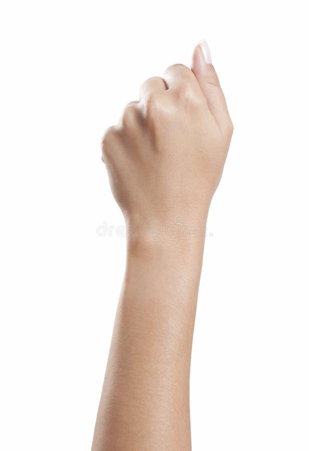 Pięści kobiety ręka zdjęcia stock