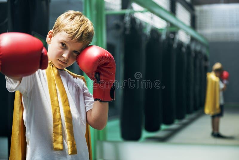 Pięści sprawności fizycznej rękawiczek Gym zdrowie sporta potomstw pojęcie fotografia stock