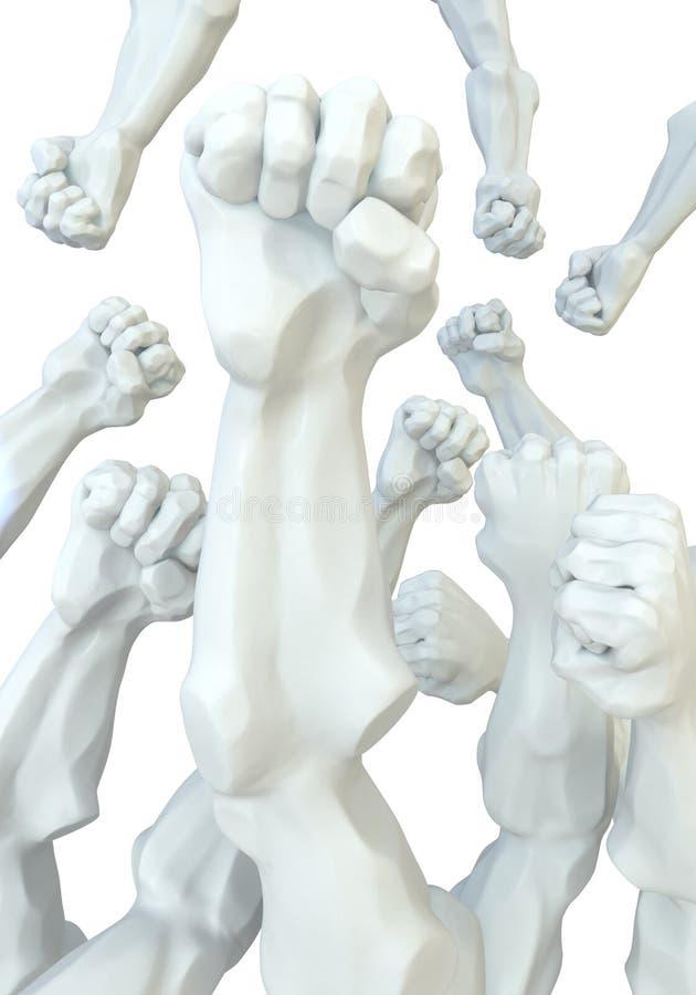 pięści statua royalty ilustracja