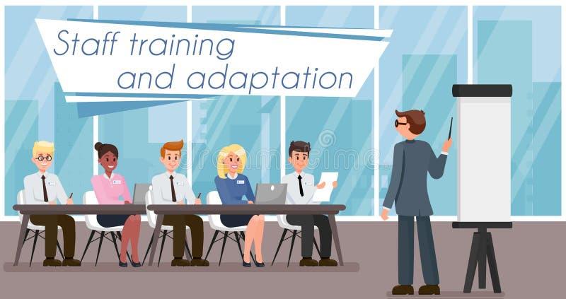 Pięcioliniowy szkolenie i adaptacja również zwrócić corel ilustracji wektora ilustracji